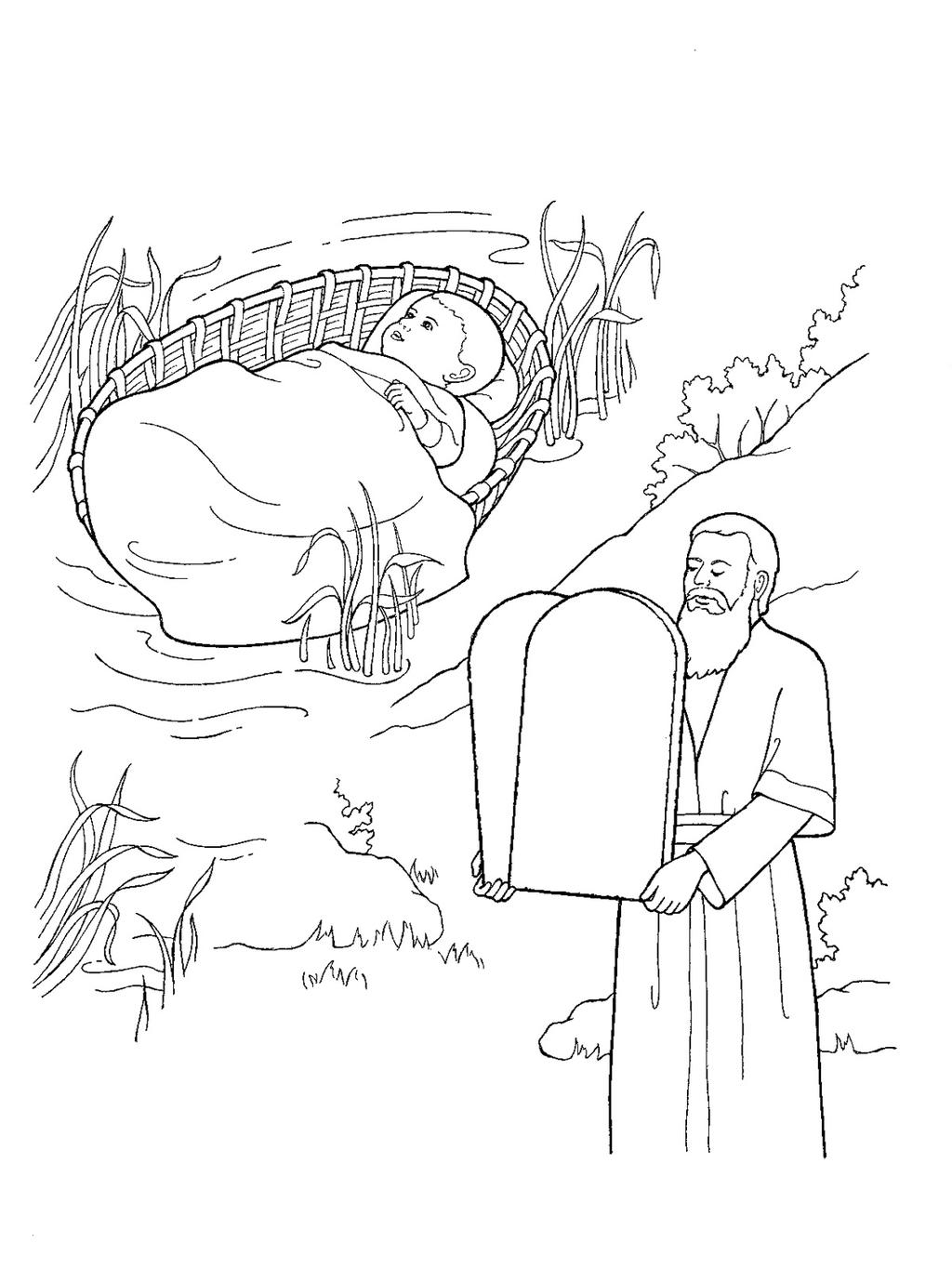 10 Commandments Coloring Pages 10 Commandments Coloring Pages Moses Ten Kid Colorings