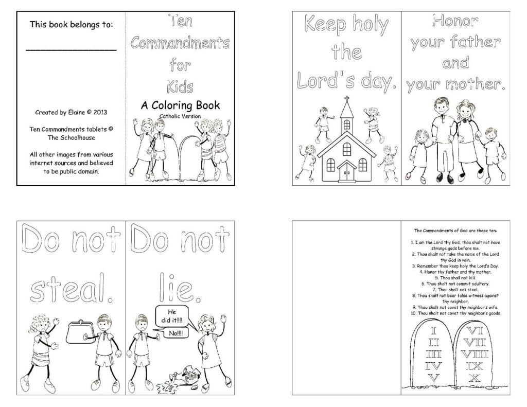 27+ Marvelous Picture of 10 Commandments Coloring Pages