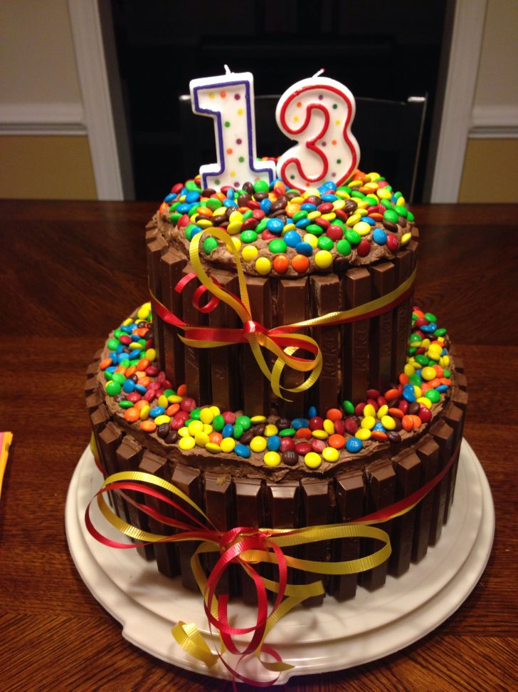 13Th Birthday Cakes Decided To Try This For My Sons 13 Th Bday What Fun This Was To