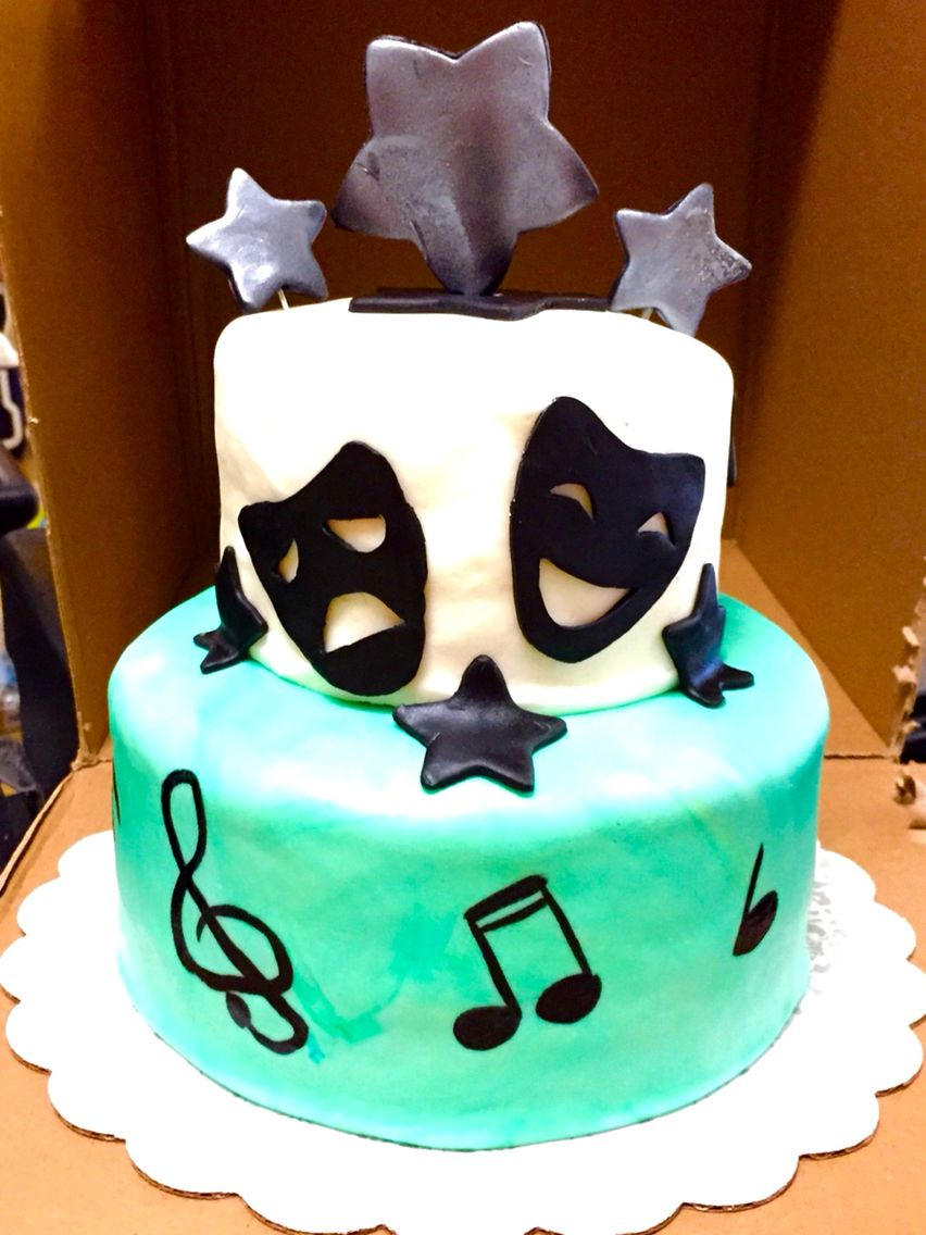 14 Year Old Birthday Cake Drama Birthday Cake For My 14 Year Old Niece Musical Notes Are