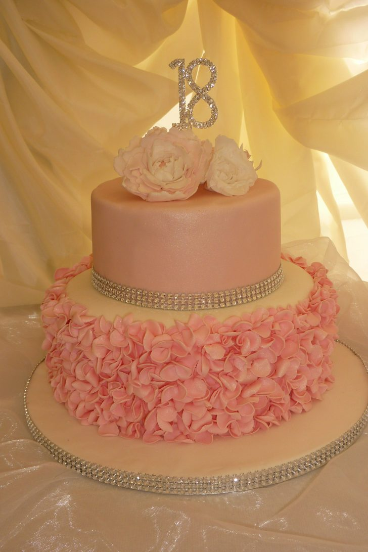 18 Birthday Cakes Pink 18th Birthday Cake We Made Ruffles And Peonies Ideas For