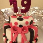 19 Birthday Cake 19th Two Tier Birthday Cake Beautiful Cakes Pinterest Cake