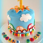 1St Birthday Cake Boy Cars Cake First Birthday Colorful Explosion Cake Boy Auto Torte