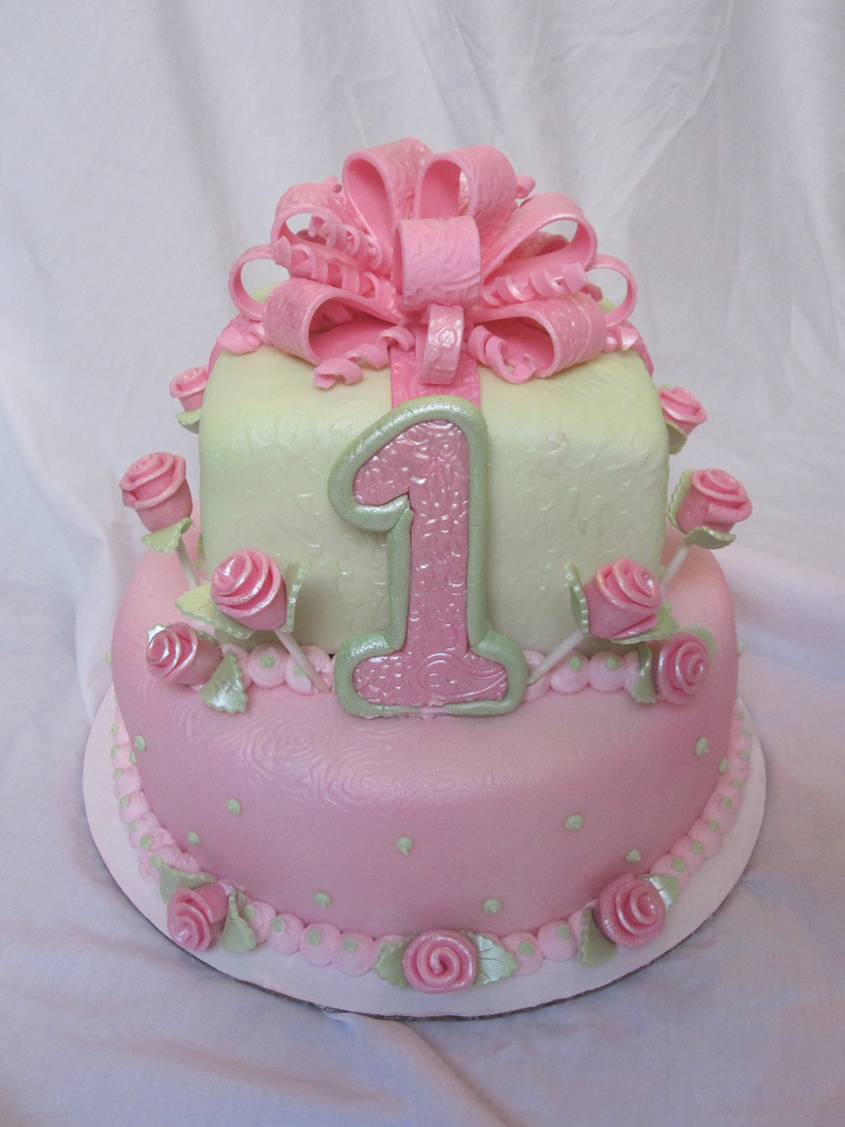1St Birthday Cake For Girl 1st First Birthday Cake Girl 1st First Birthday Cake Girl Flickr