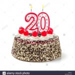 20Th Birthday Cakes 20th Birthday Cake Cut Out Stock Images Pictures Alamy