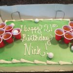21St Birthday Cake Ideas For Him Beer Pong Cake 21st Birthday Cake Idea Diy Birthday Cake 21st