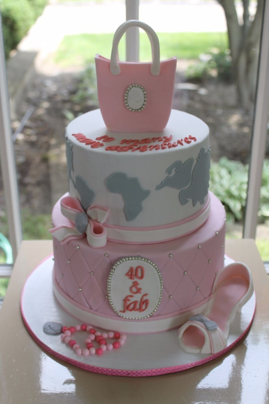 40Th Birthday Cakes For Her 40th Birthday Cake Cake For Her Cakes Pinterest 40th Birthday