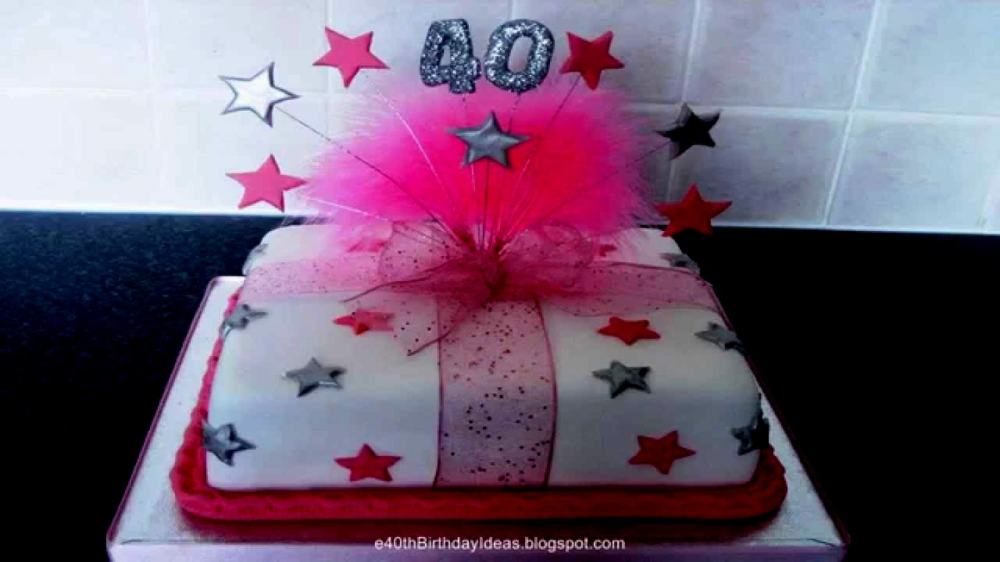 40Th Birthday Cakes For Her 40th Birthday Cake Ideas For Her Cakes Celebration