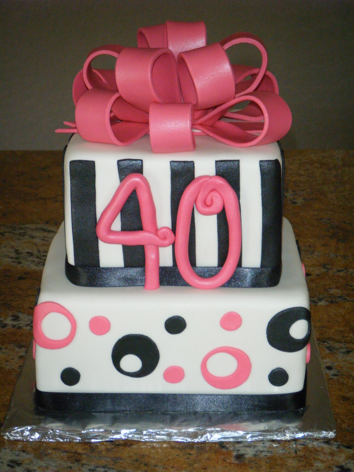 40Th Birthday Cakes For Her 40th Birthday Cakes Classic Style Best 40th Birthday Cakes