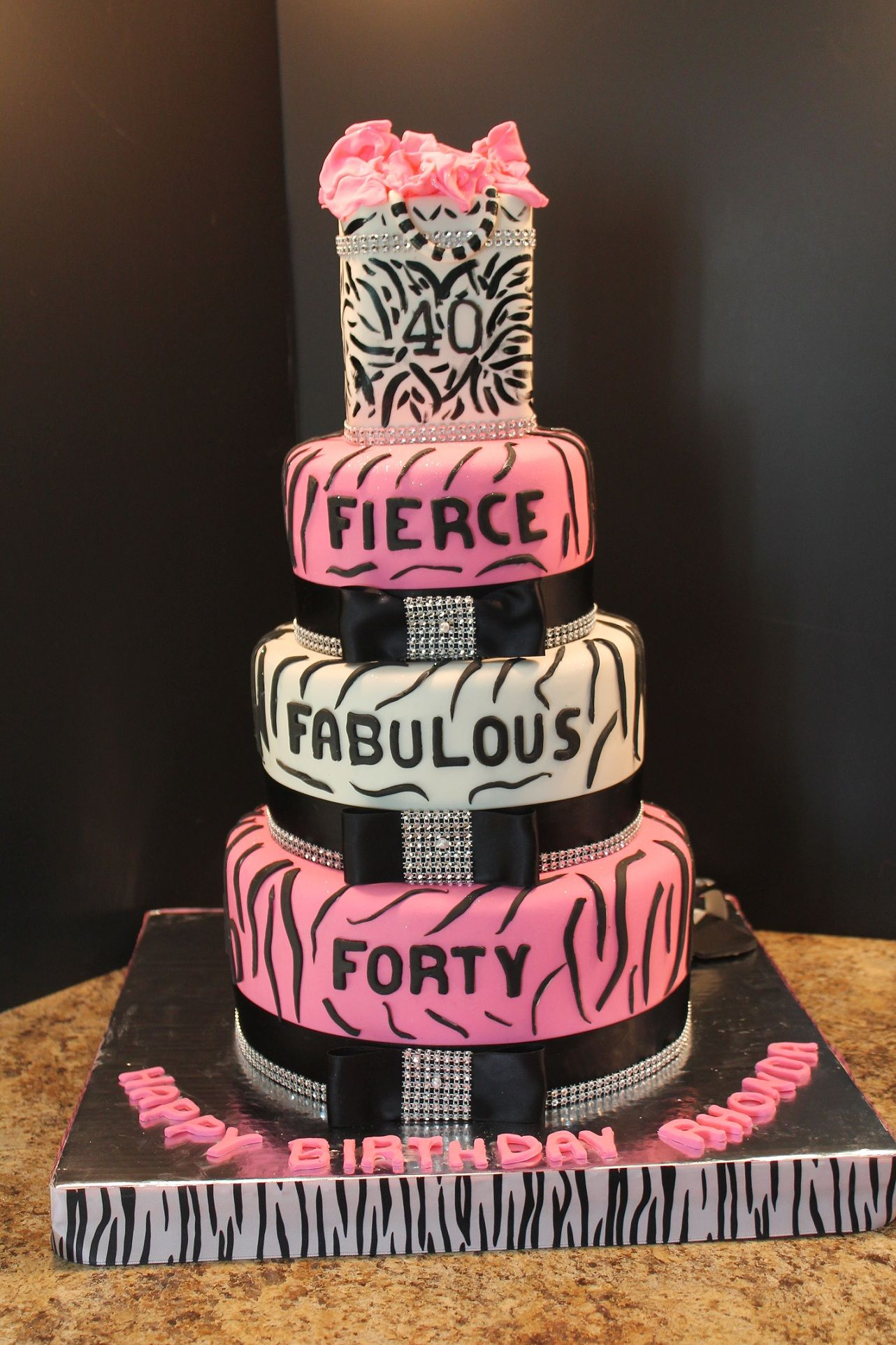 23+ Amazing Photo of 40Th Birthday Cakes For Her