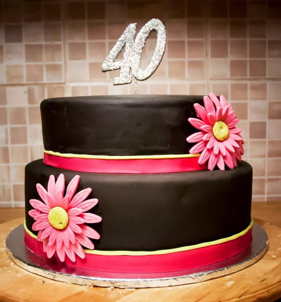 40Th Birthday Cakes For Her Creative 40th Birthday Cake Ideas Crafty Morning
