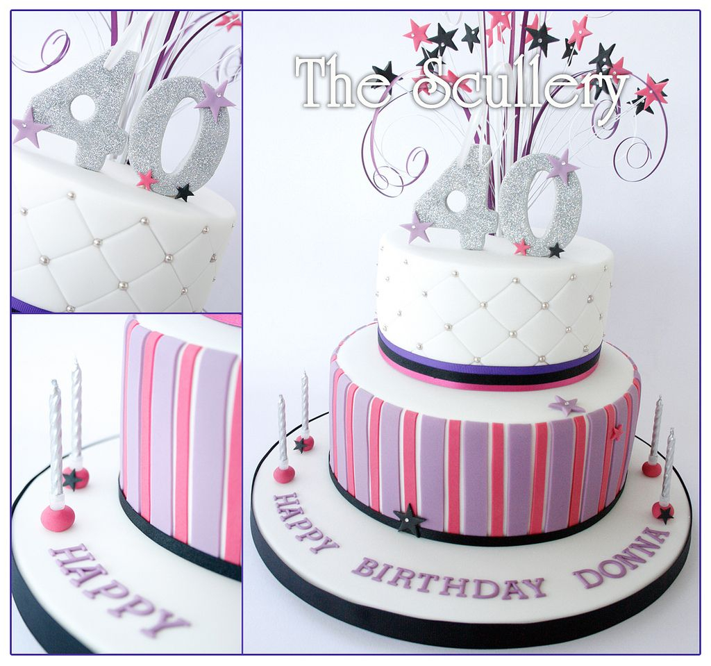 40Th Birthday Cakes For Her Ladies 40th Birthday Cake 70th Birthday Ideas 40th Birthday