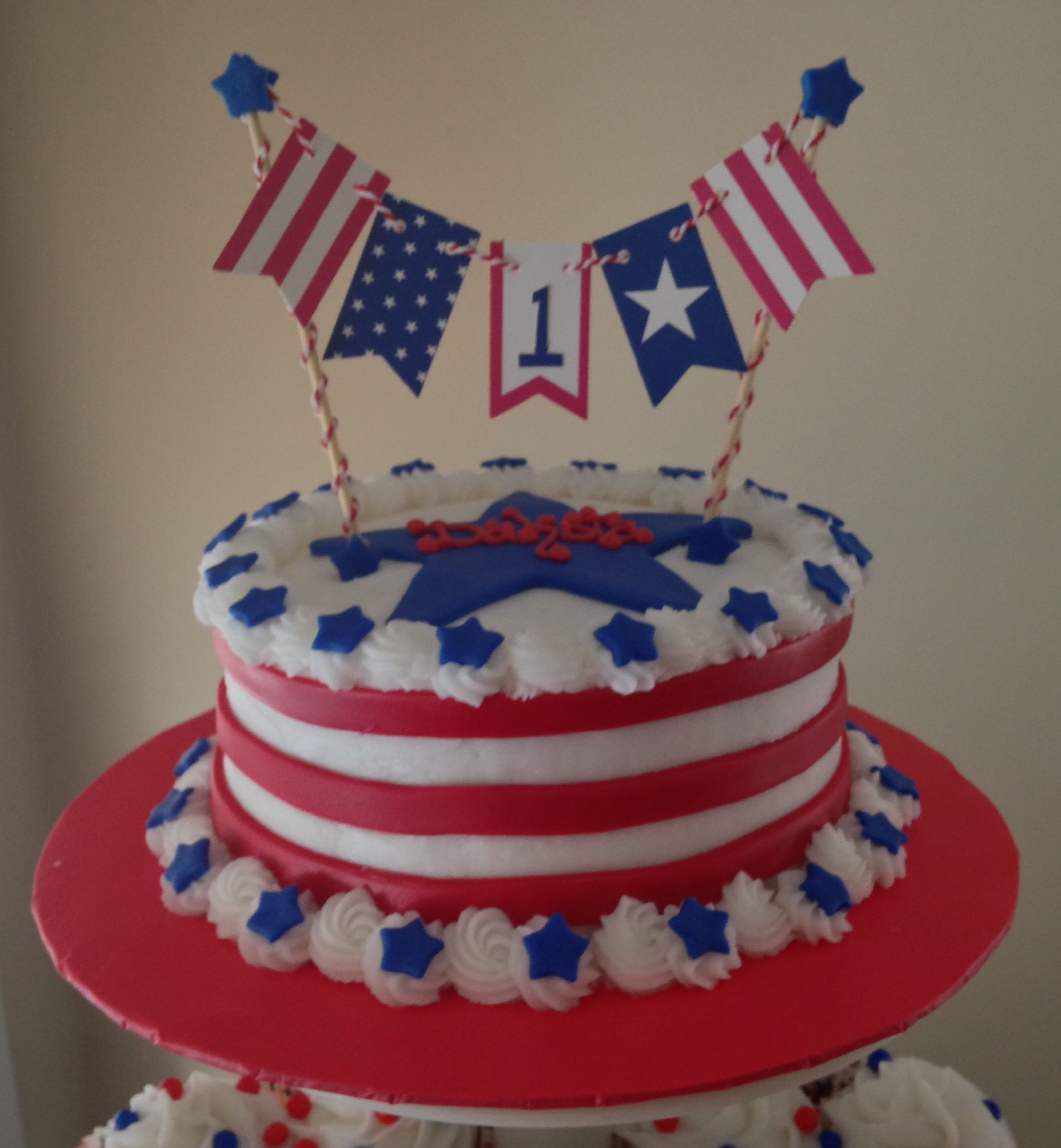 4Th Of July Birthday Cakes 1st 4th Of July Birthday Cake My Cakes Pinterest July Birthday
