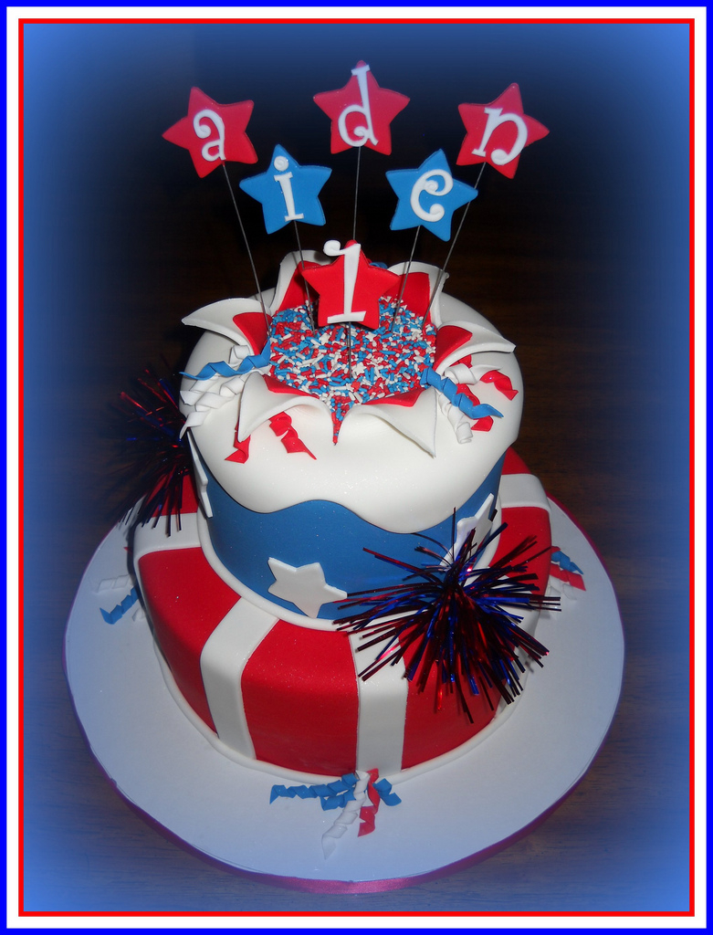 4Th Of July Birthday Cakes Aiden 4th Of July Birthday Cake First Time Trying The Ex Flickr