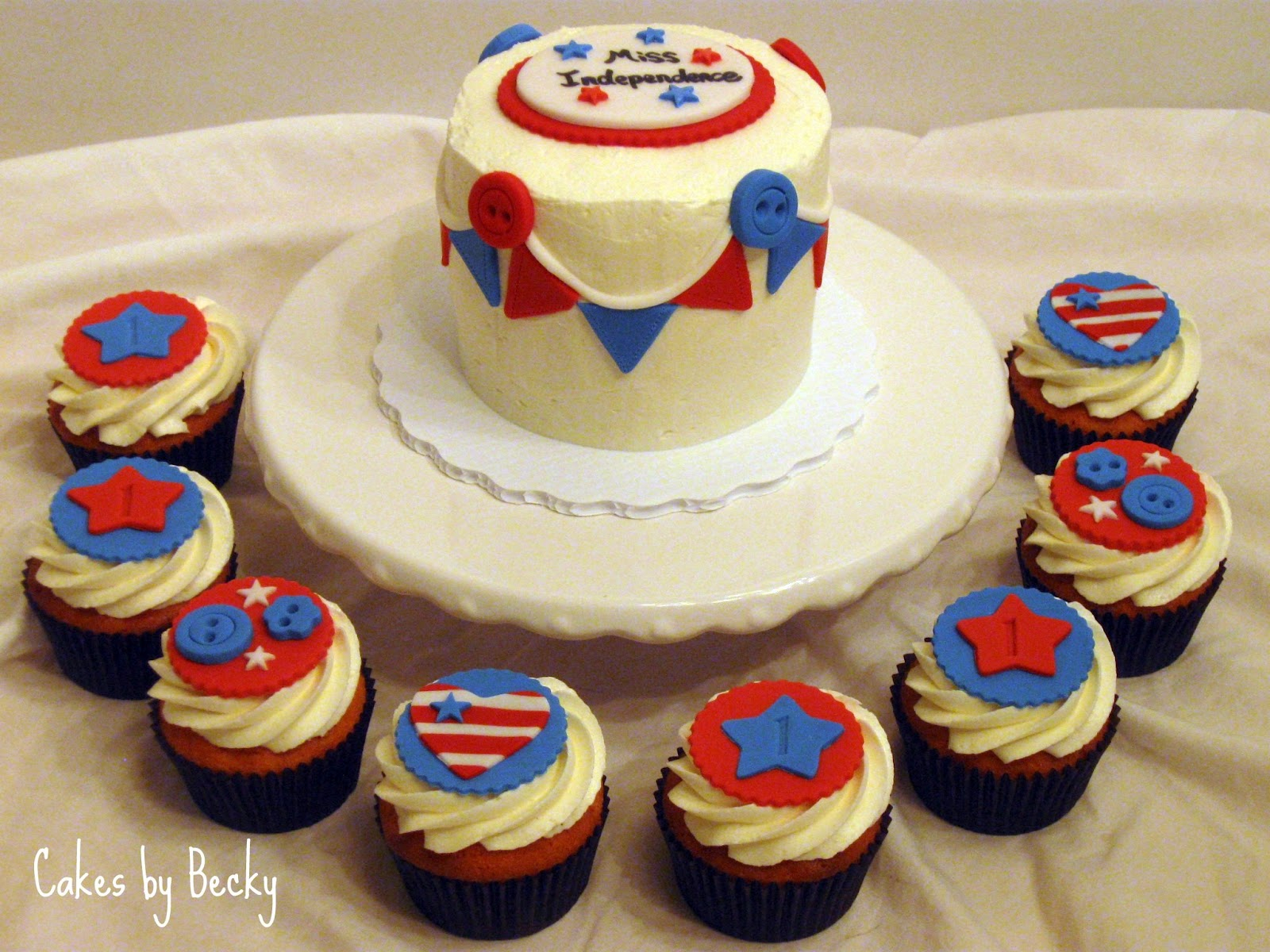 4Th Of July Birthday Cakes Cakes Becky 4th Of July First Birthday