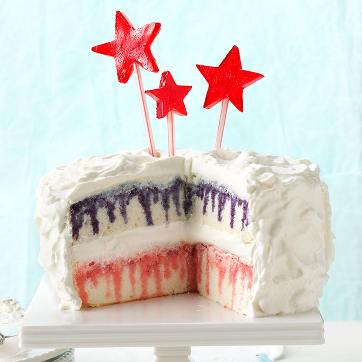 4Th Of July Birthday Cakes Red White Blueberry Poke Cake Recipe Taste Of Home