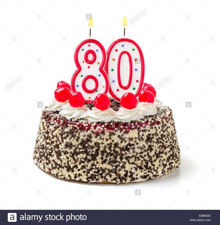 80Th Birthday Cake 80th Birthday Cake Cut Out Stock Images Pictures Alamy