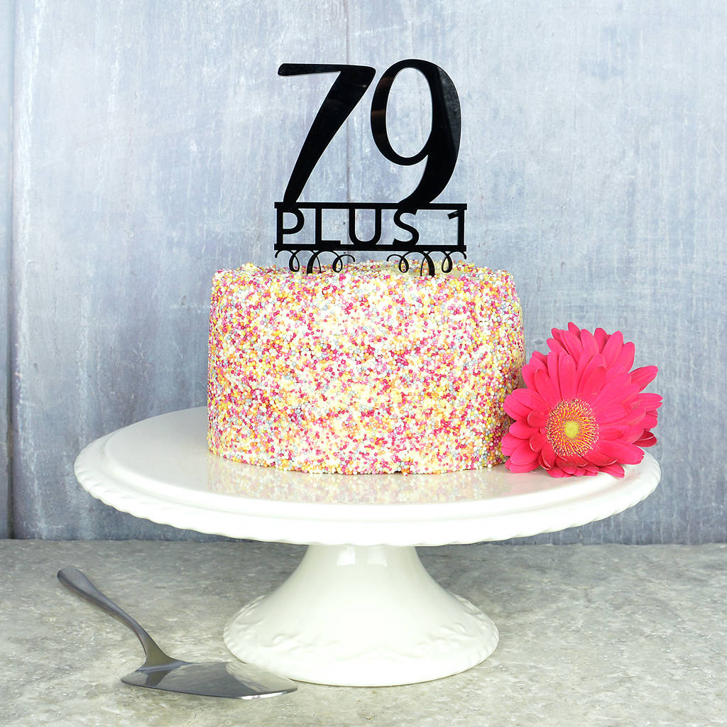 80Th Birthday Cake 80th Birthday Cake Topper Pink And Turquoise Notonthehighstreet