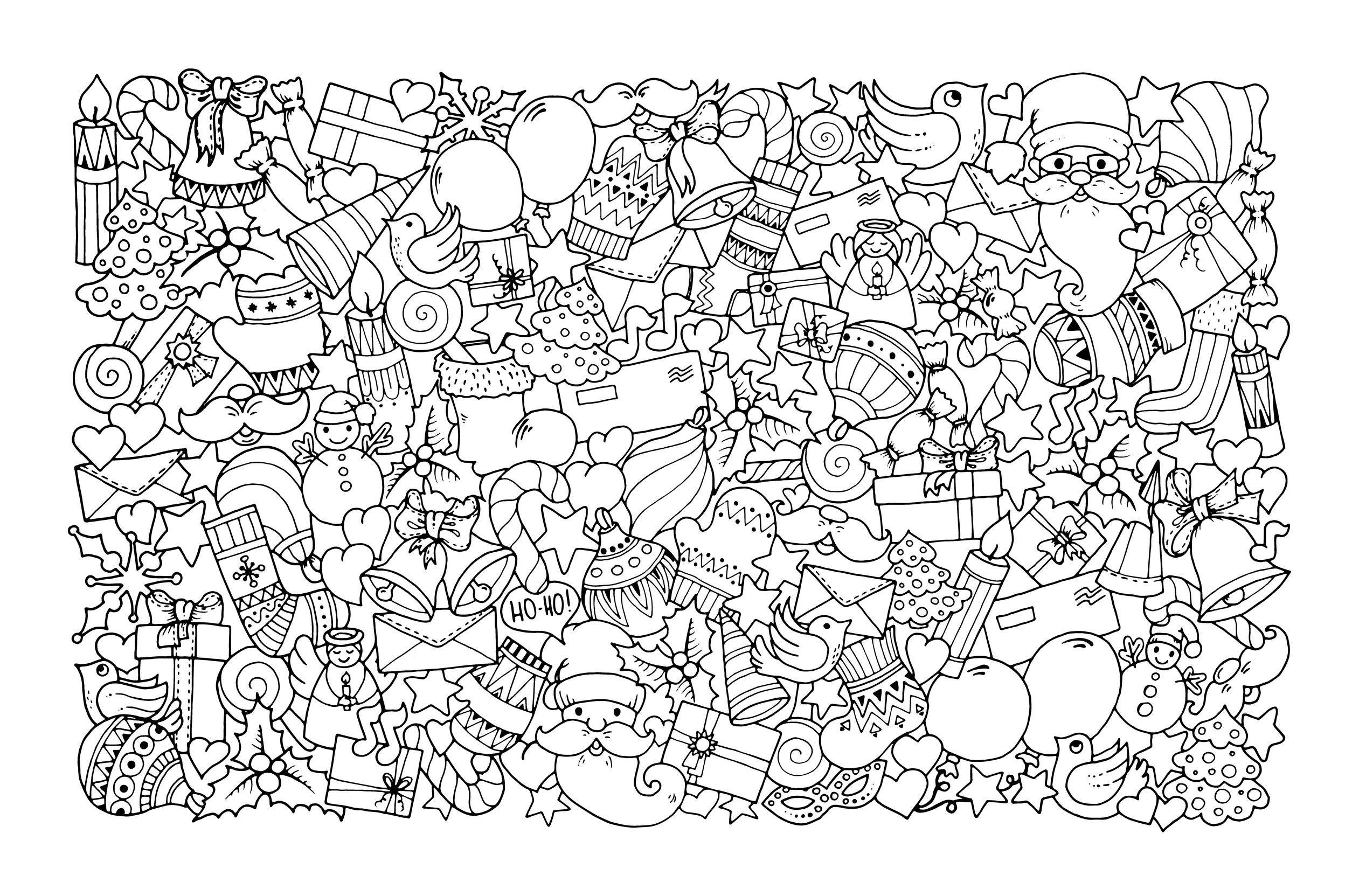 21+ Inspiration Picture of Adult Christmas Coloring Pages