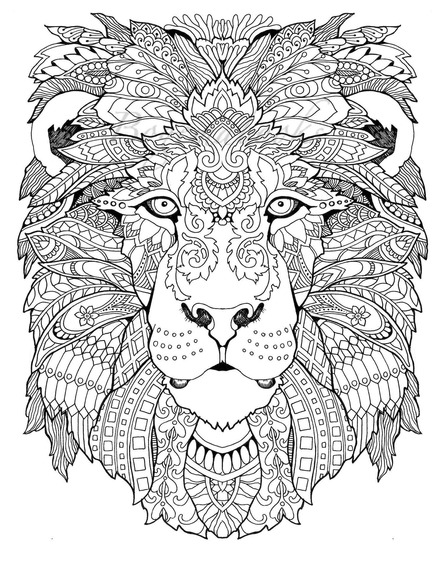 Adult Coloring Pages To Print Coloring Book Animals Pdf Best Awesome Animals Adult Coloring Pages