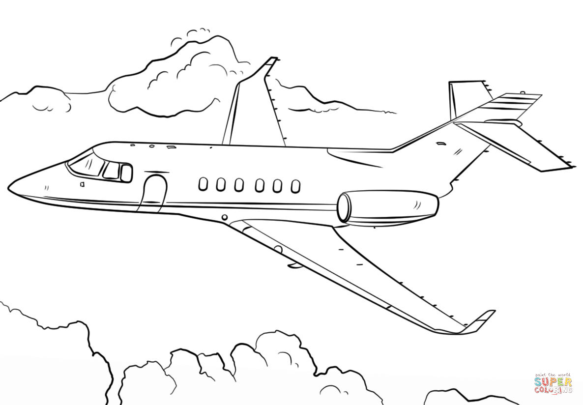 27+ Excellent Photo of Airplane Coloring Page