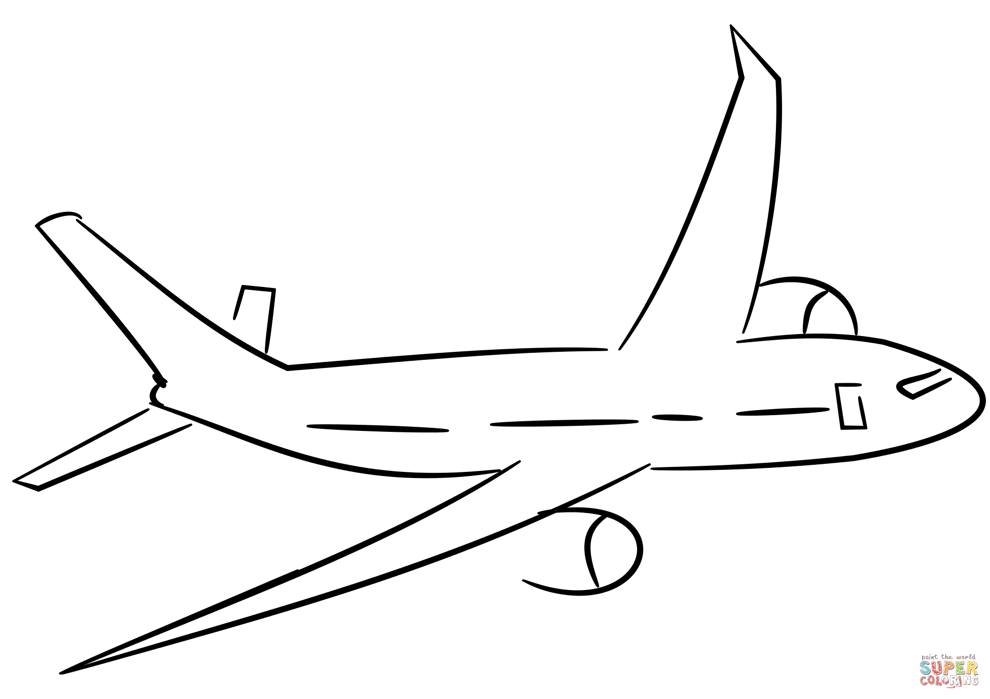Airplane Coloring Pages Airplane Coloring Page Free Printable Coloring Pages