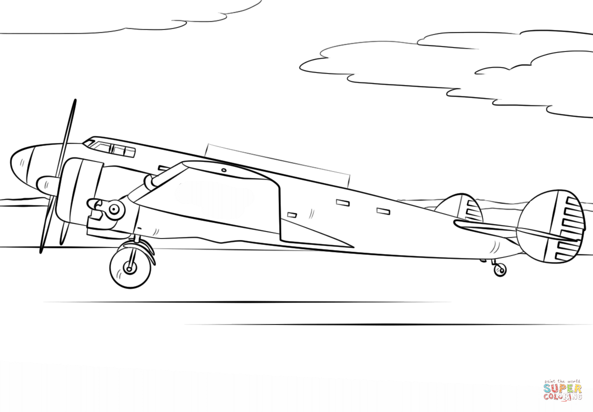 Airplane Coloring Pages Amelia Earhart Airplane Coloring Page Free Printable Coloring Pages