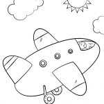Airplane Coloring Pages Cartoon Airplane Coloring Page Free Printable Coloring Pages