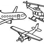 Airplane Coloring Pages Coloring For Kids With Aircraft Helicopter Coloring Pages For