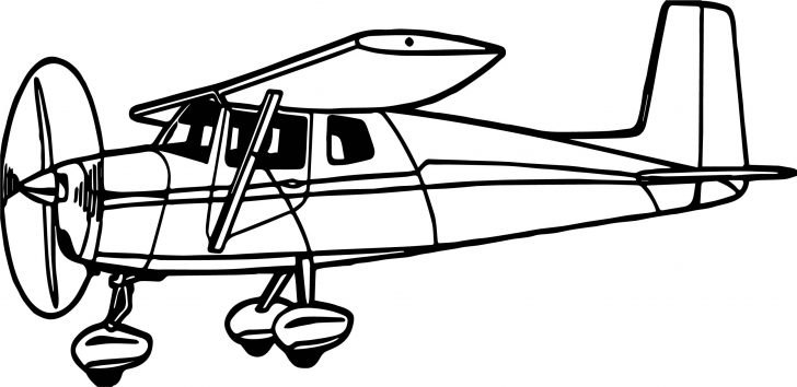Airplane Coloring Pages Illustration Of A Cessna Airplane Coloring Page Wecoloringpage