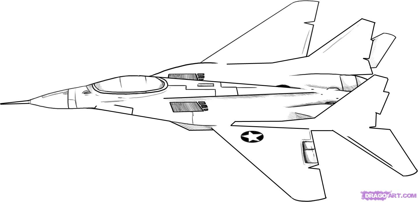 Airplane Coloring Pages Military Airplane Coloring Pages Color Bros