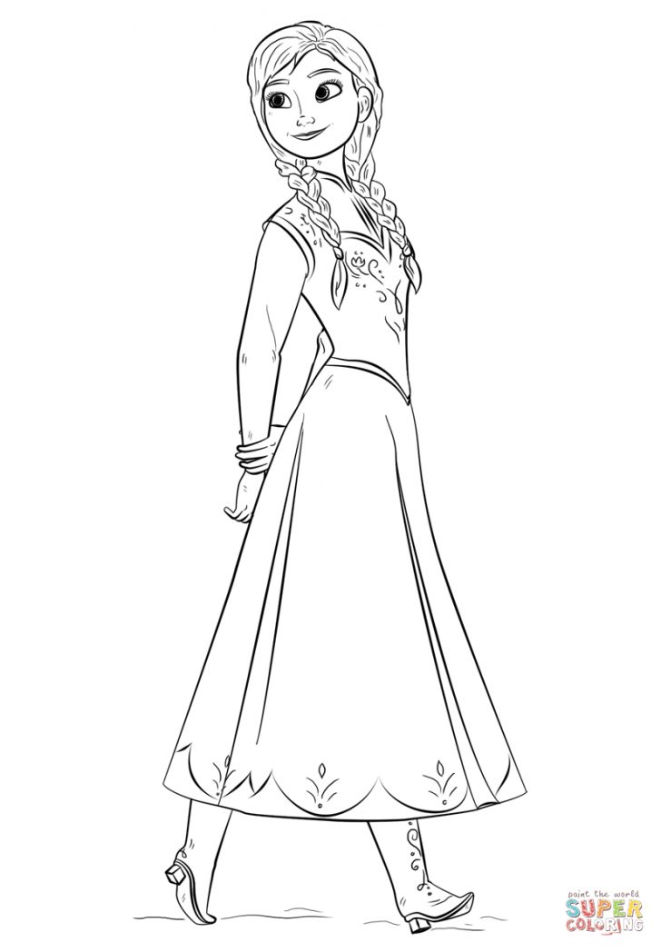 Anna Coloring Pages Anna From The Frozen Movie Coloring Page Free Printable Coloring Pages
