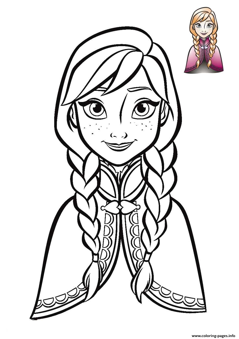 Anna Coloring Pages Anna Frozen Face 2018 Coloring Pages Printable