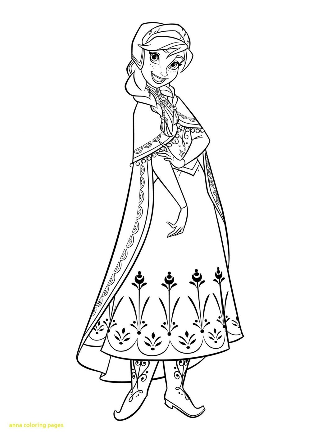 25+ Elegant Photo of Anna Coloring Pages