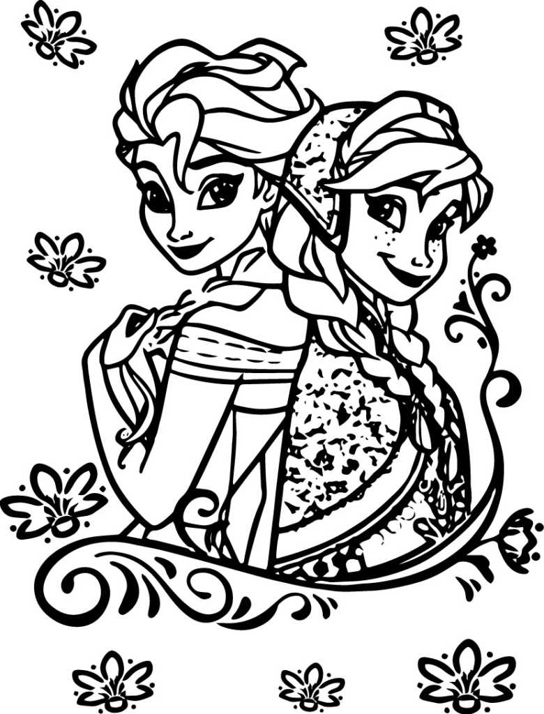 Anna Coloring Pages Cooloring Book Elsa And Anna Coloring Pages Printable My Little