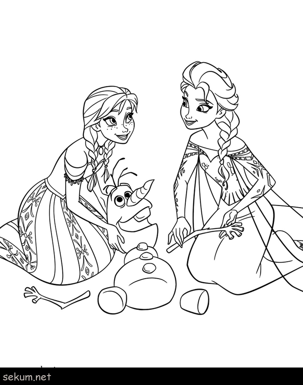 Anna Coloring Pages Frozen Elsa And Anna Coloring Pages Olaf Free