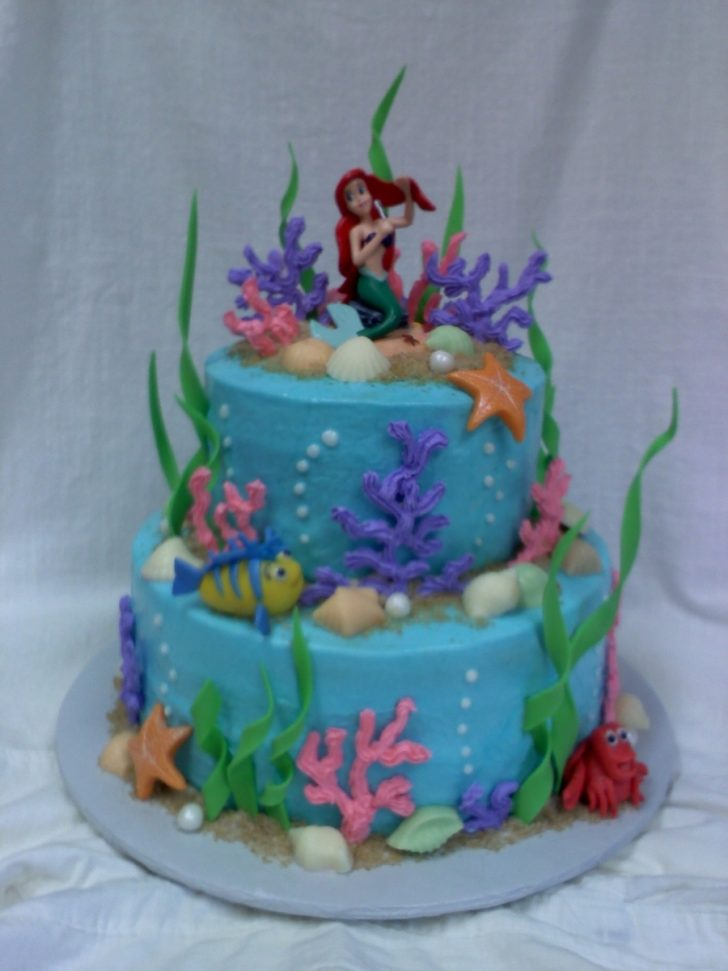 Ariel Birthday Cakes Ariel And Friends Birthday Cake Cakecentral