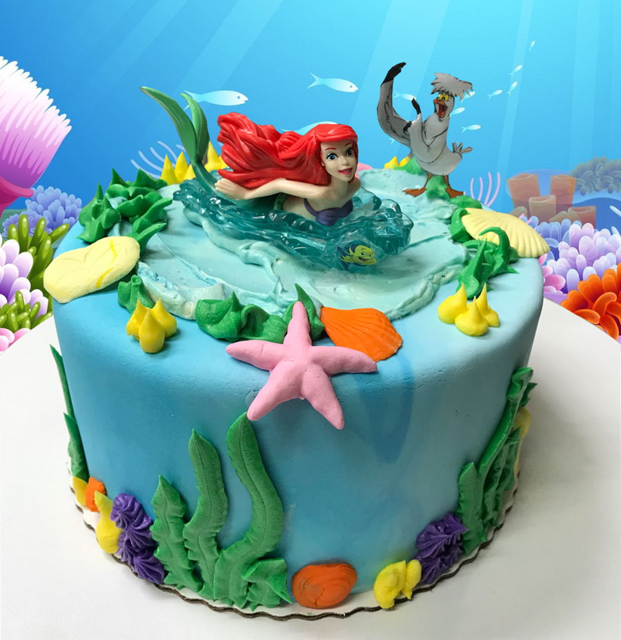 Ariel Birthday Cakes Ariel Birthday Cake Cakecentral