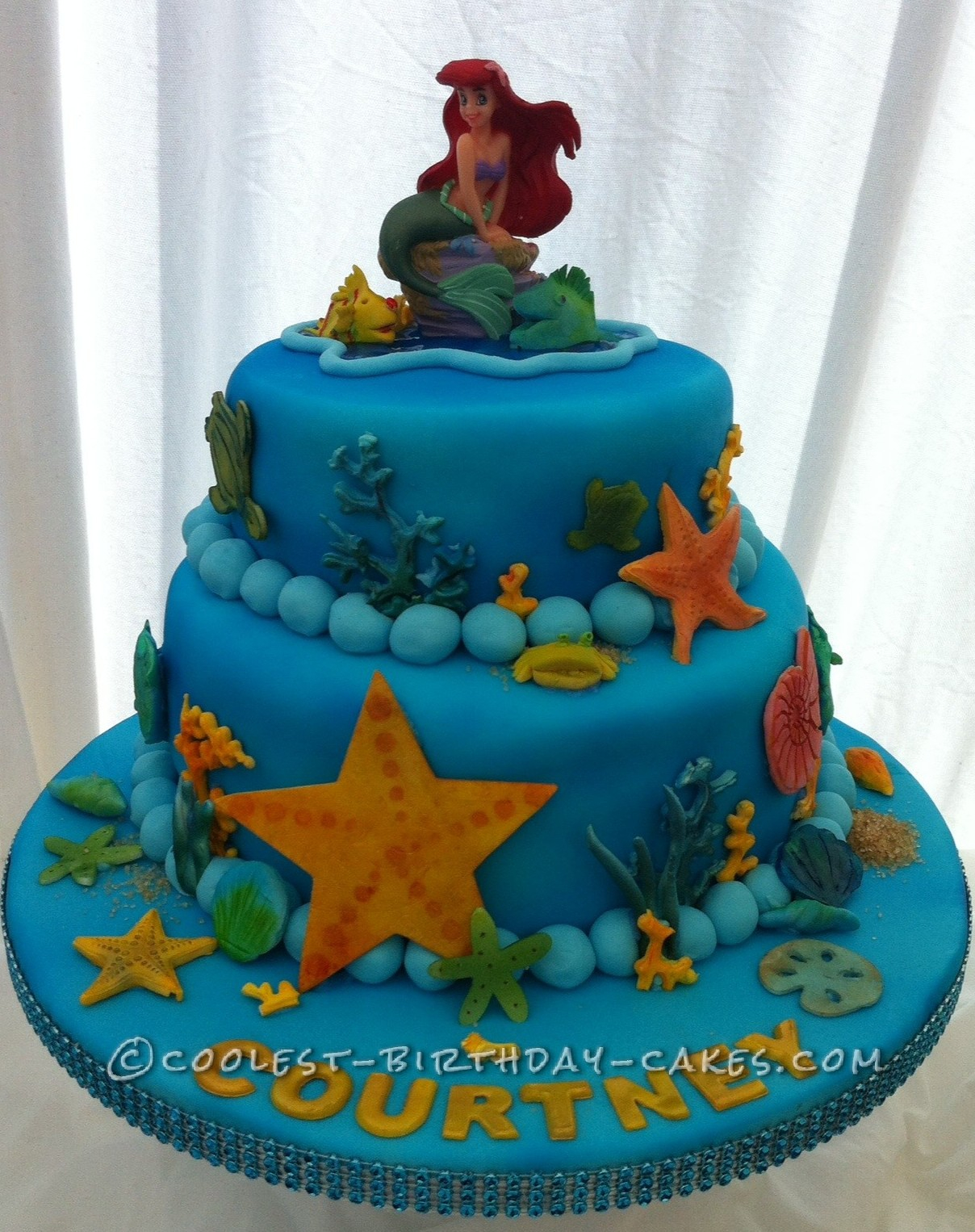 Ariel Birthday Cakes Cool Homemade 2 Tier Little Mermaid Cake