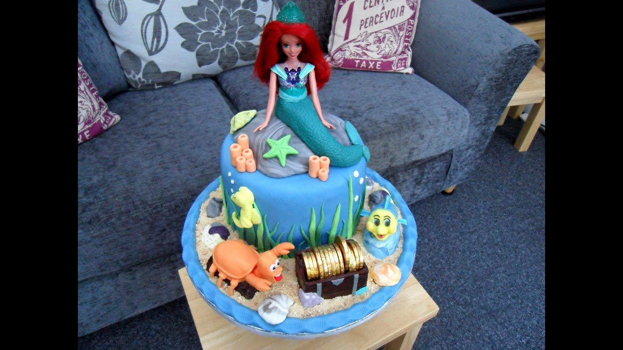 Ariel Birthday Cakes Evies 5th Birthday Cake Ariel The Little Mermaid Youtube