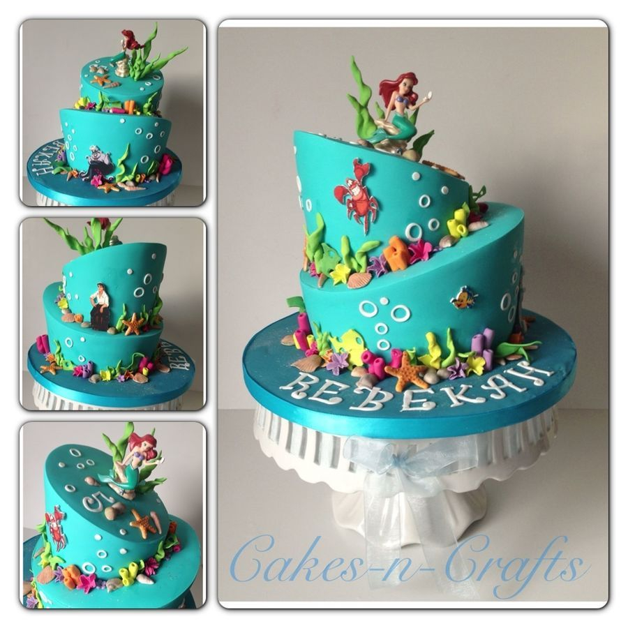 Ariel Birthday Cakes Little Mermaid Birthday Cake How To Decorate It Cambrias 4th Bday