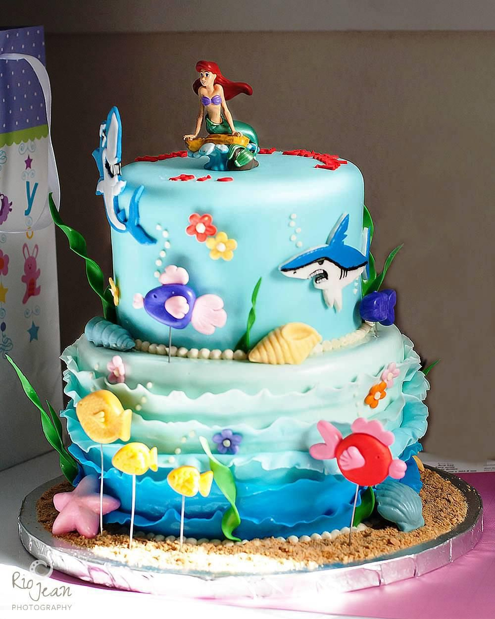 Ariel Birthday Cakes Little Mermaid Birthday Party Cake Ideas Little ...