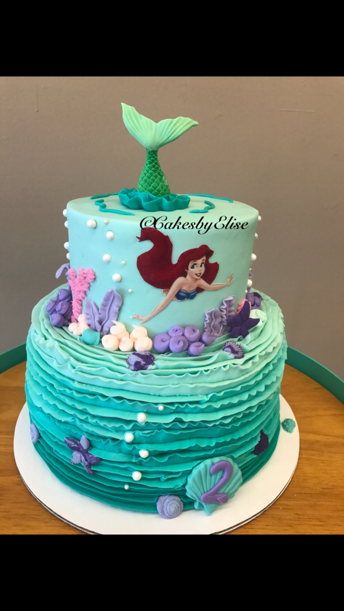 23+ Inspired Picture of Ariel Birthday Cakes