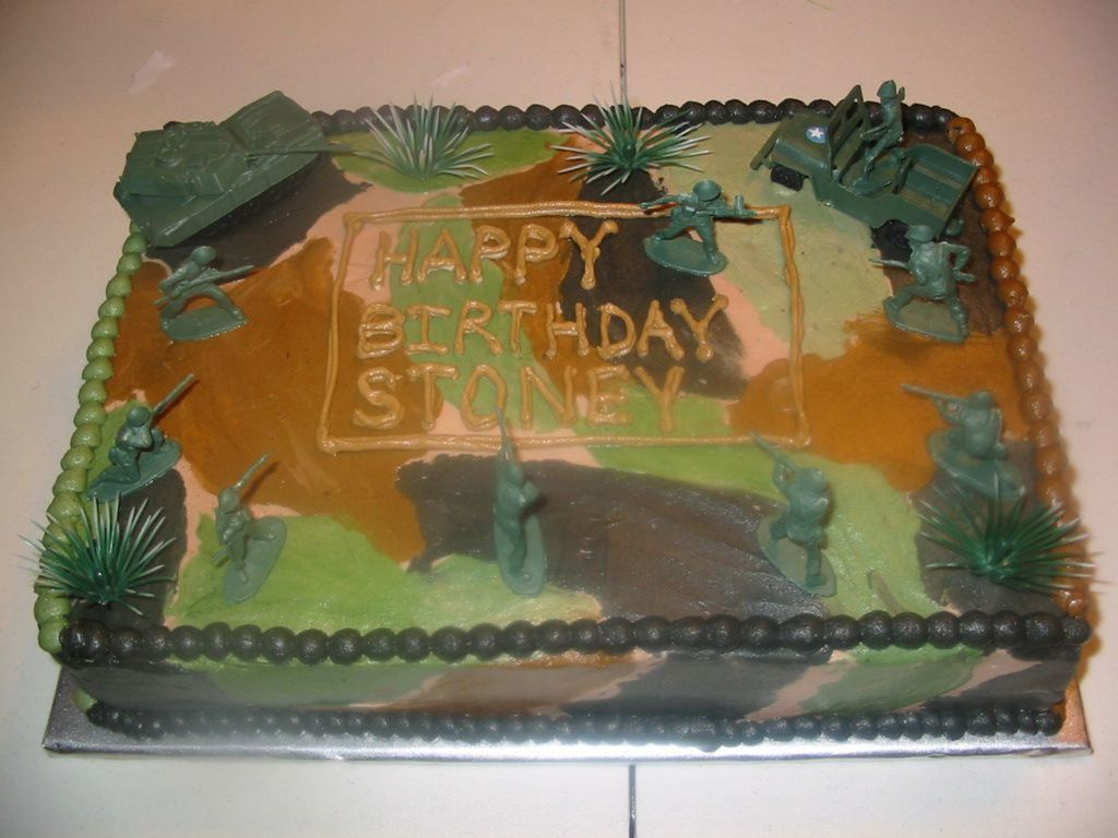 768 In 32 Excellent Picture Of Army Birthday Cakes Little Boys