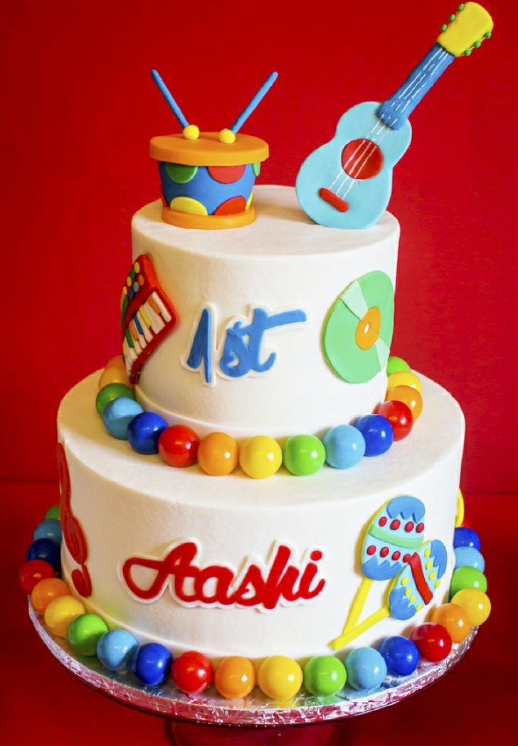 Baby Birthday Cake Ba Jam Music Inspired 1st Birthday Party Party Ideas Party