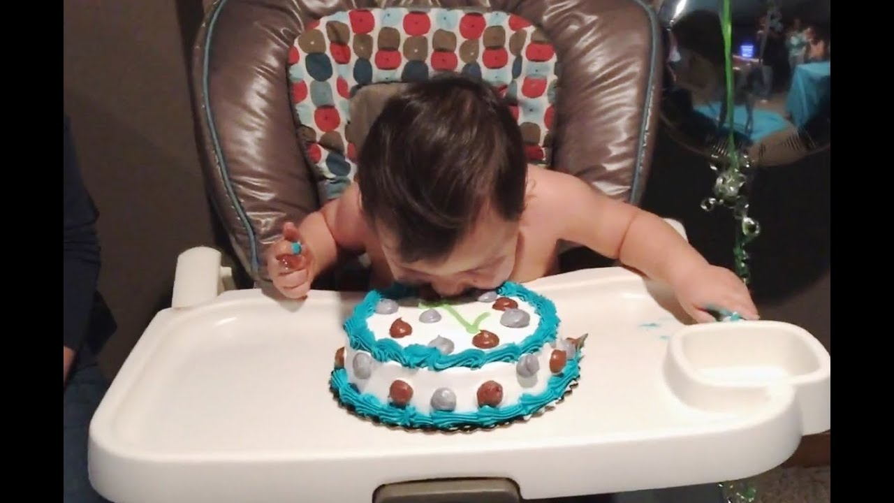 Baby Birthday Cake Babies Diving Into Birthday Cakes Compilation Cfs Youtube