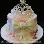 Baby Birthday Cake My Ba Girls First Birthday Cake Loved It Princess Party