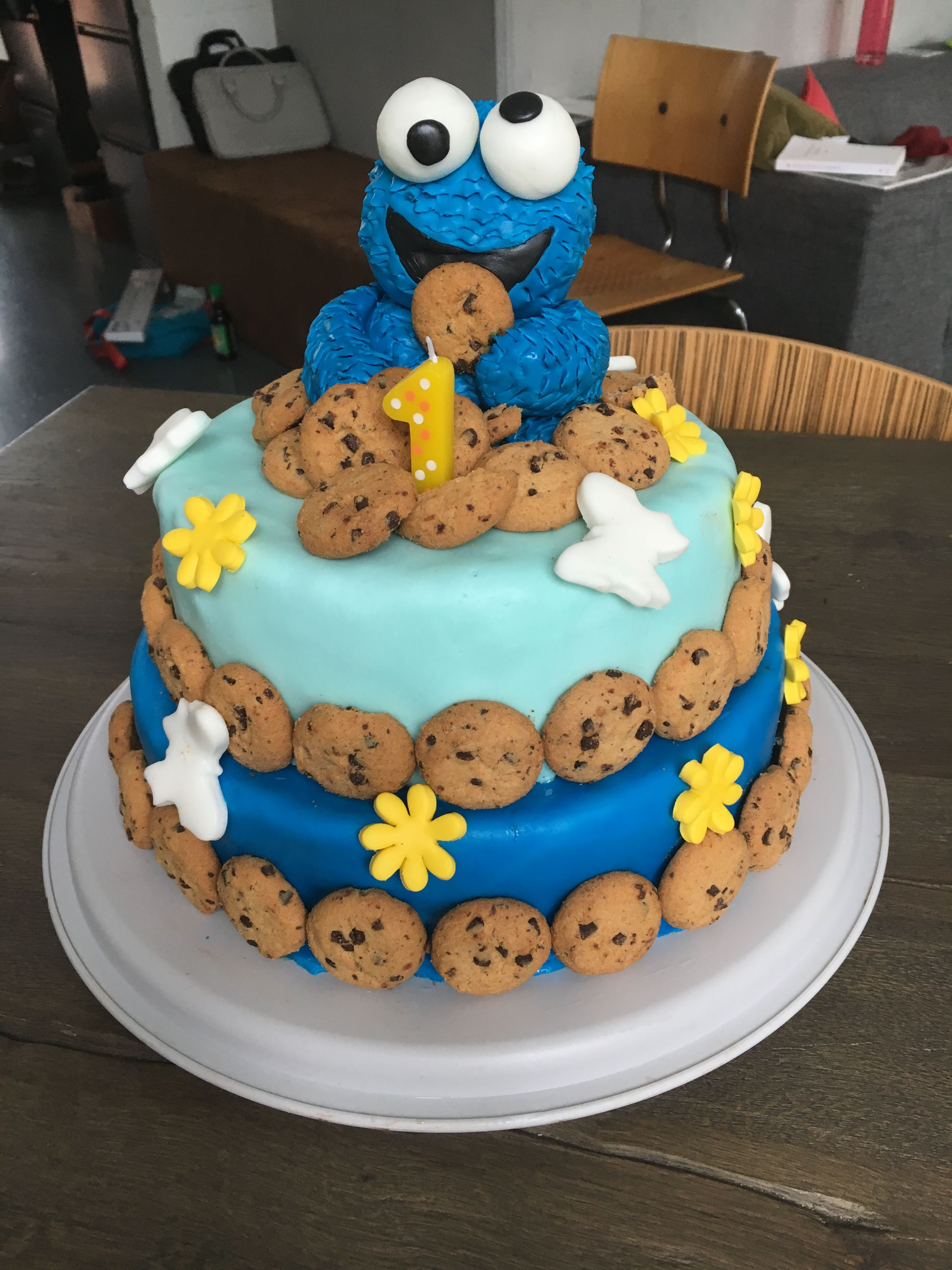 Baby Boy Birthday Cakes Cookie Monster Cake For My 1 Year Old Ba