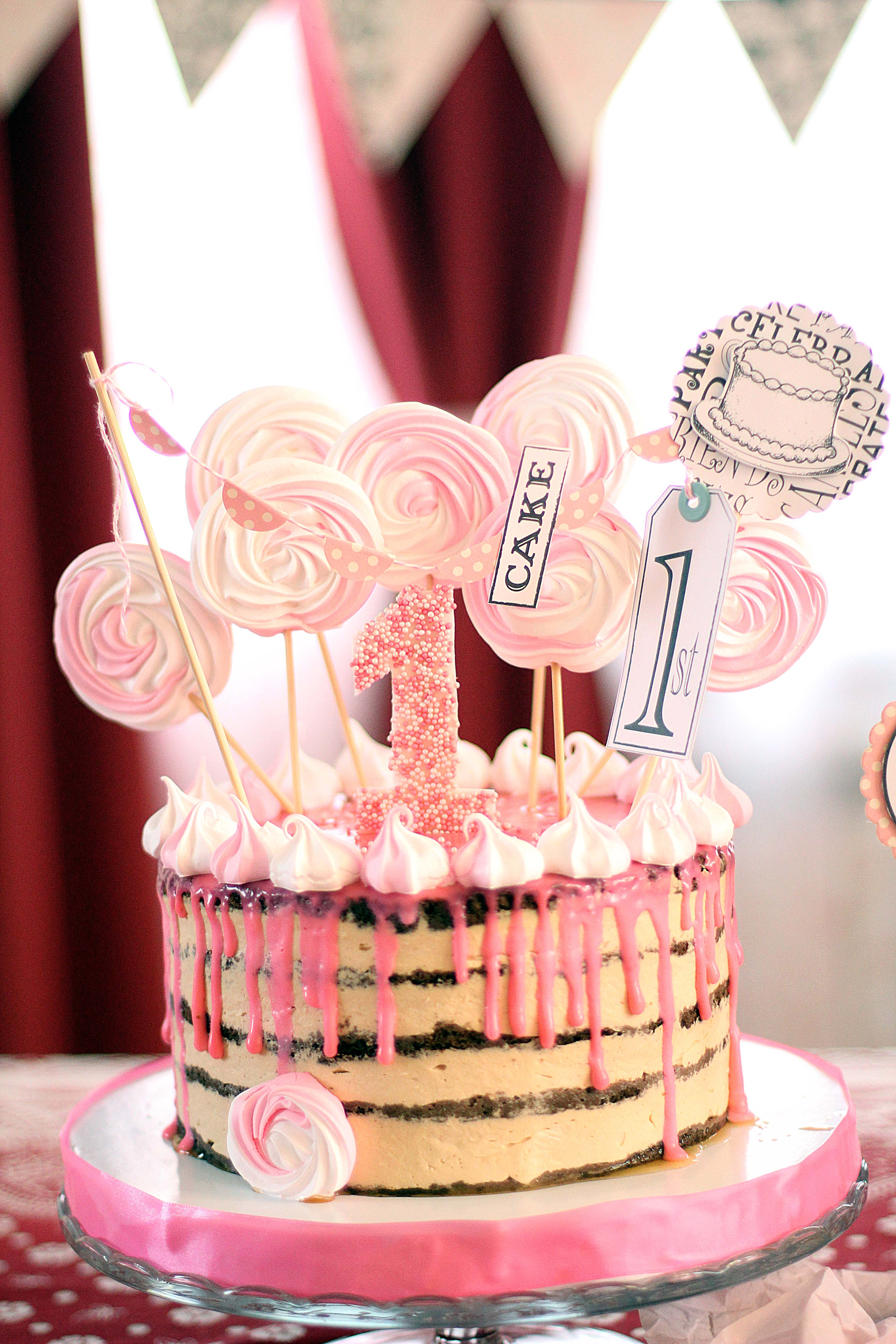 Baby Girl Birthday Cakes 1st Diy Party Ideas And Crafting