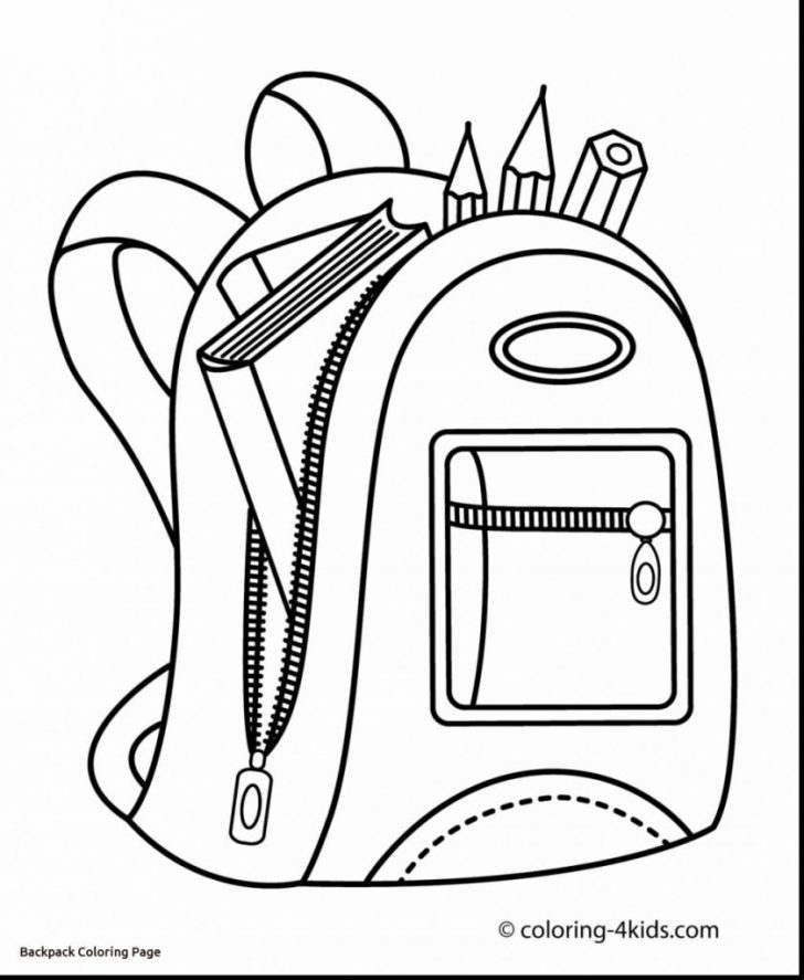 Backpack Coloring Page 8 Backpack Drawing Printable For Free Download On Ayoqq